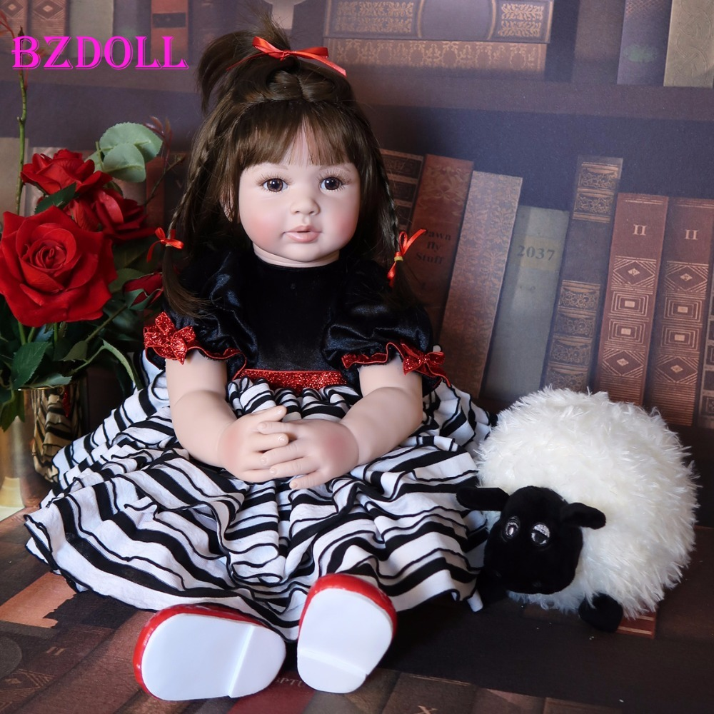 60cm Silicone Reborn Baby Doll Toy Like Real Vinyl Princess Toddler Babies Child Birthday Gift Girls