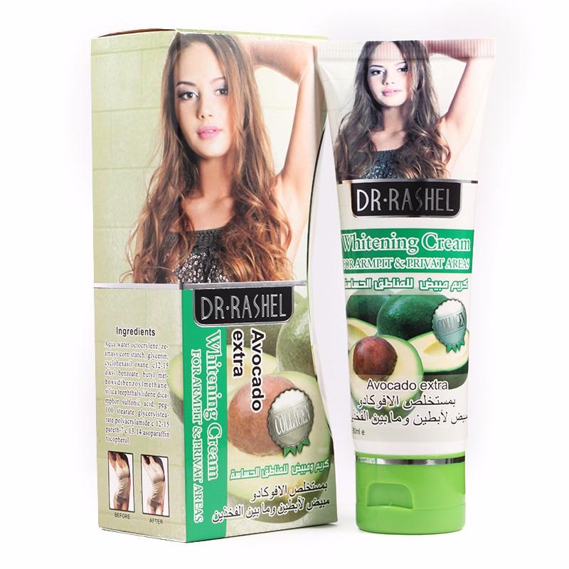 Body Whitening Cream Lotion Moisturizing Bleaching Legs Armpit Private Parts 80 ml DR.RASHEL 2