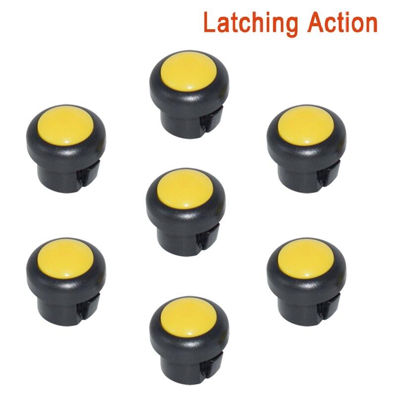 7 x кнопка включения мотоцикла сигнал поворота Высокий Низкий Луч Электрический старт Kill ON OFF кнопки мгновенного действия с фиксацией - Цвет: Yellow A