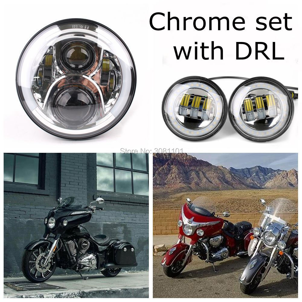 4.5inch led Fog lamp with white DRL +7INCH LED Headlight white Angel eyes for 2006-2011 Harley-Davidson Street Glide etc. motorcycle 7inch led protection headlight angel eye white drl amber turning color 4 5inch led fog light for harley davidson