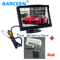 """5 """"pantalla lcd de coches trasera del monitor + alambre auto car reserva cámara 4 led lámpara adecuada para CITROEN DS4 2012/C4L 2013"""