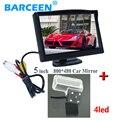 """5 """"tela lcd traseira do carro do monitor + fio auto carro reserva câmera 4 led lamp adequado para CITROEN DS4 2012/C4L 2013"""