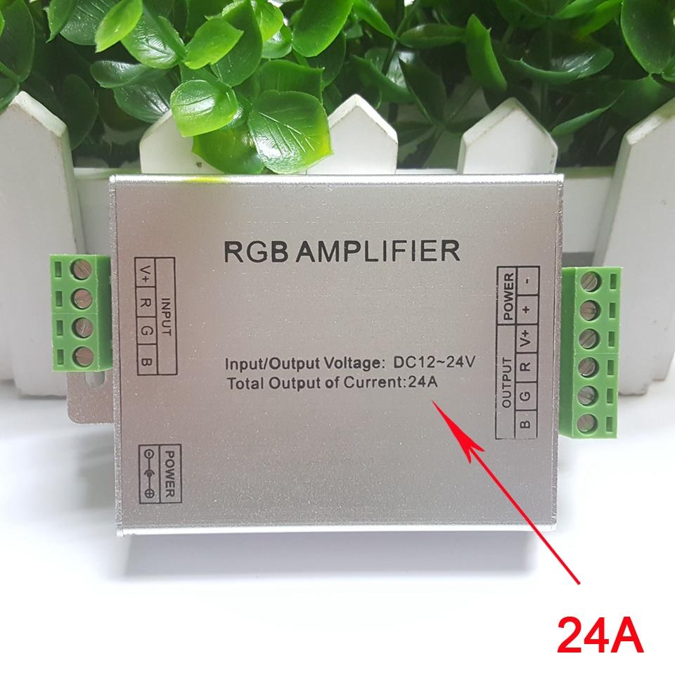Image 2 - Amplificador RGB RGBW, DC12 24V 24 A, circuito de salida de 4 canales, carcasa de aluminio, controlador de tira led, repetidor de señal de datosControladores RGB   -