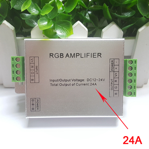 Image 2 - RGB RGBW Amplifier, DC12 24V 24A 4 Channel Output Circuit Aluminum Shell LED Strip Controller Data Signal Repeater
