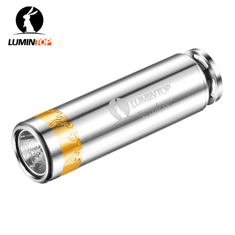 LUMINTOP Pocket Flashlight Torpedo 007 With Tritium Tube 520 Lumen Keycha in EDC LED Mini Flashlight with Cree XP-L V5 thrunite th20 led headlamp 520 lumen cree xp l led head flashlight mini edc aa 14500 torch waterproof headlight