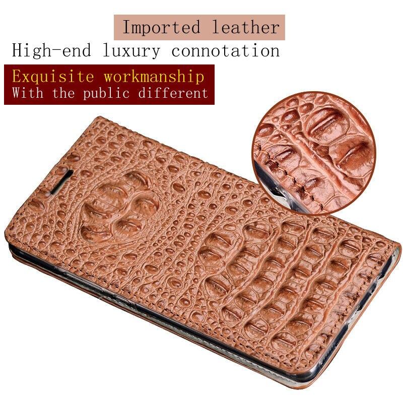 Étui pour téléphone portable étui pour lg G7 Tous Faits À La Main portable coque de téléphone crocodile motif arrière boucle Magnétique coque de téléphone