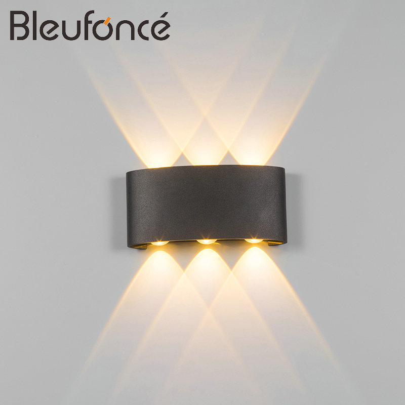 Outdoor Waterproof Wall Lamp Modern Simple LED indoor Wall Lamps Home Decoration Lighting Aluminum Balcony Wall Lights BL79 free shipping by dhl fedex waterproof courtyard floor lamp outdoor indoor decoration lamp outdoor party lights wedding lamps