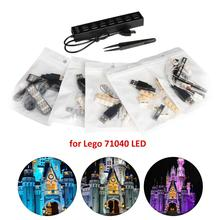 лучшая цена LED Light Kit For LEGO 71040 Compatible With 16008 Cinderella Princess Castle City Model Building Block Accessories