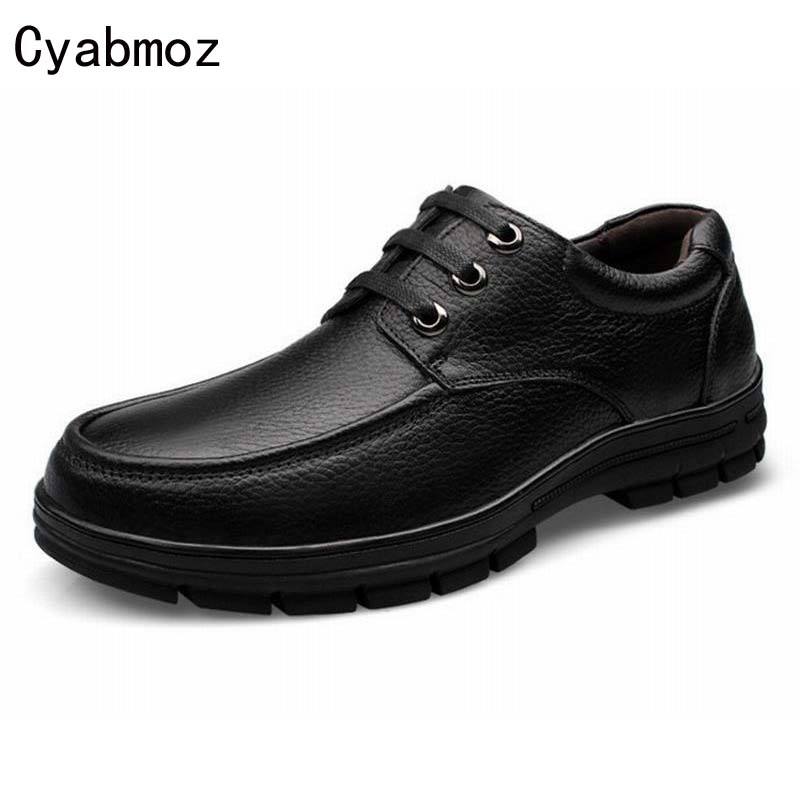 Men Oxfords Shoes Casual Flats Thick Sole Shoes Male British Style Fashion Genuine Leather Tooling Dress Shoes Platform Man Shoe