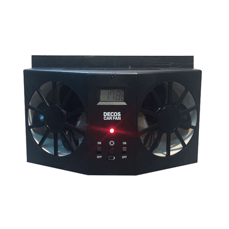 XieCheng Car Fan Solar window Fan Portable Air Vent Cool Fan Cooler Ventilation System Radiator High quality Portable Auto Fan