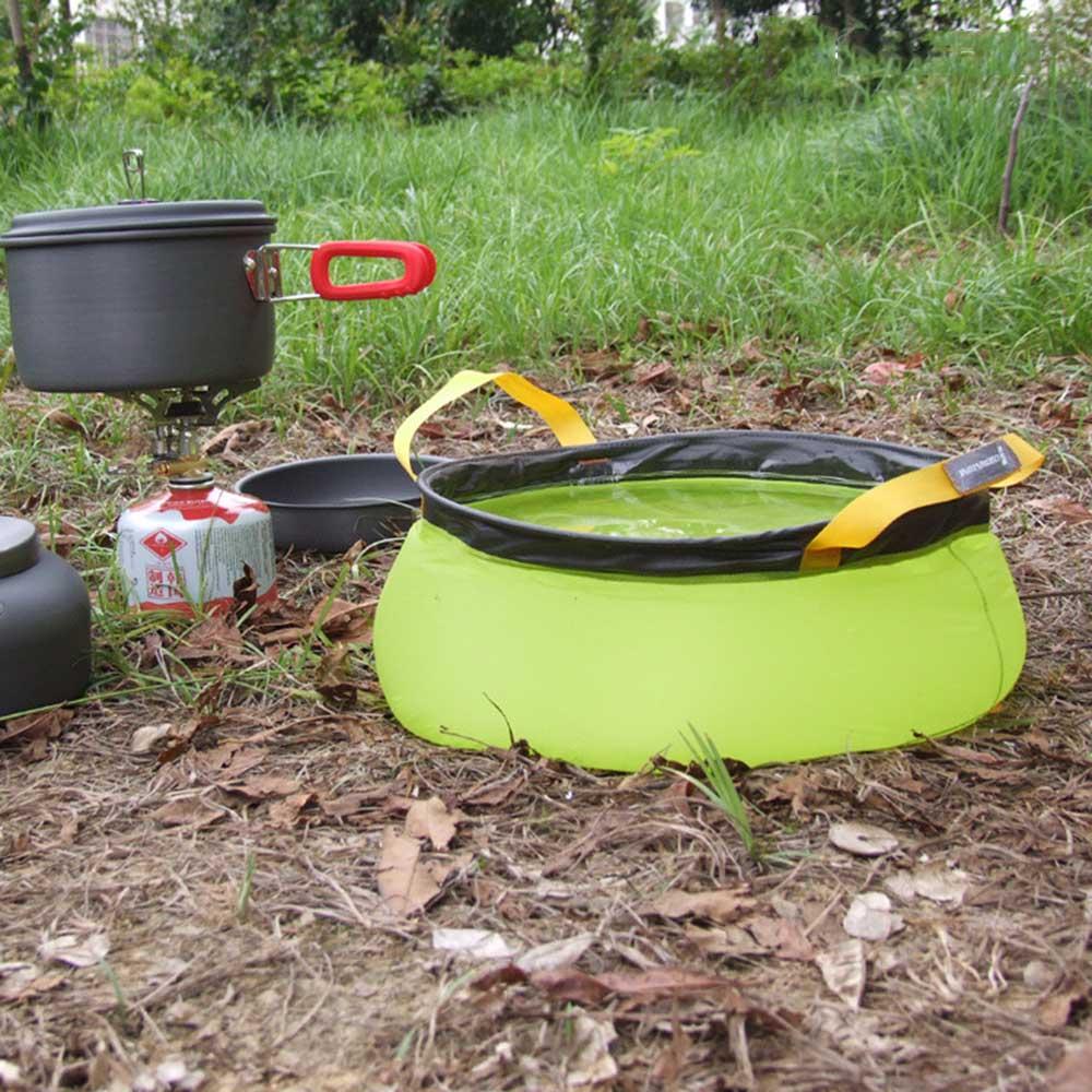 10L Lavabo de Agua De Nylon Plegable Bolsa de Lavado Portátil Al Aire Libre de Secado rápido de Camping Picnic de Baño de 3 Colores