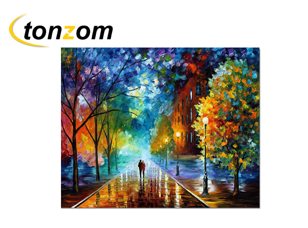 Us 6 79 51 Off Rihe Night Street Diy Painting By Numbers Couple Oil Painting Tree Cuadros Decoracion Acrylic Paint On Canvas Modern Wall Art In