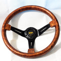 340MM Deep Dish OMP ABS Steering Wheel Wooden Color with Carbon Fiber Cover Racing Wood Steering Wheel