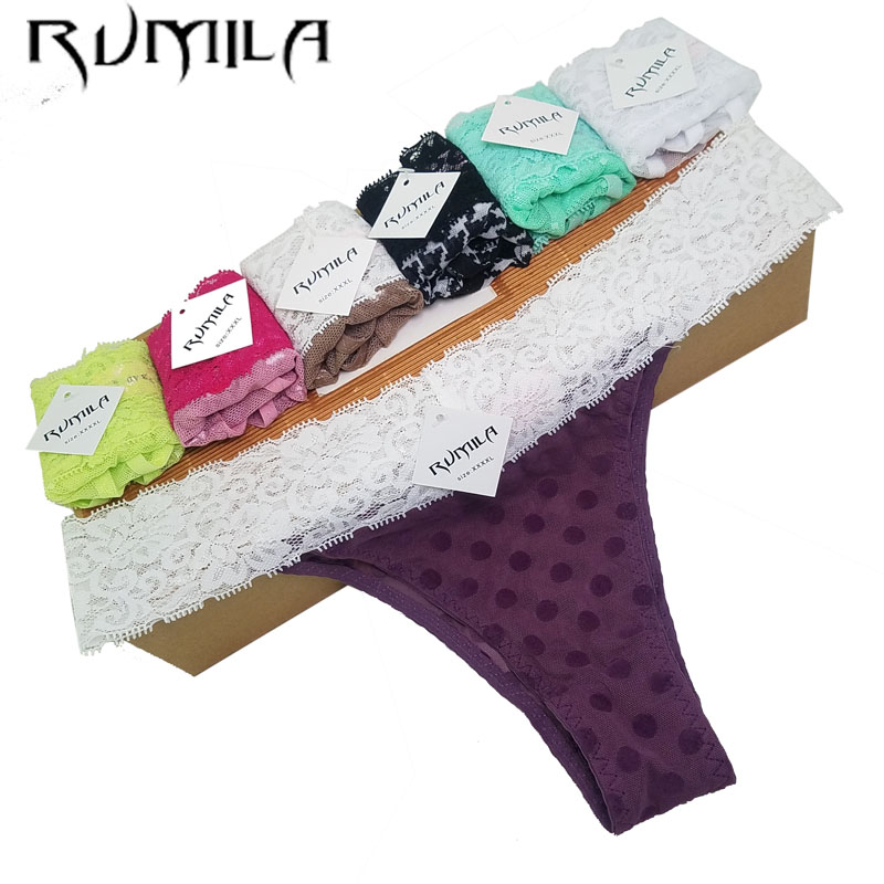 XXXXL SEXY Lace Cotton Women's Sexy Thongs G-string Underwear Panties Briefs Lingerie For Ladies Women 1pcs ZX71 Hsq