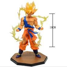 Anime Dragon Ball Z Super Saiyan Son Goku PVC Action Figure Collectible Toy 18CM  m282