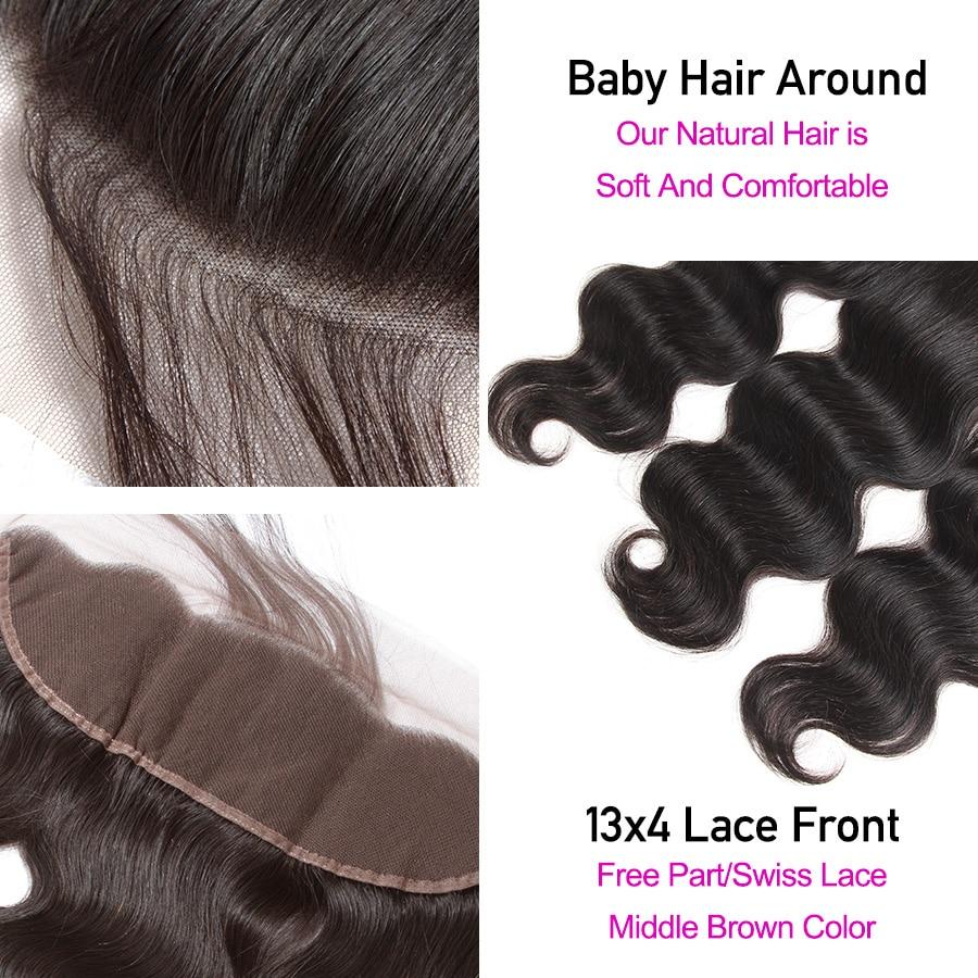 HTB1FwIvXUY1gK0jSZFMq6yWcVXaO Princess 13x4 Lace Frontal Closure With Bundles Remy Brazilian Body Wave Human Hair Bundles With Frontal Closure Medium Ratio