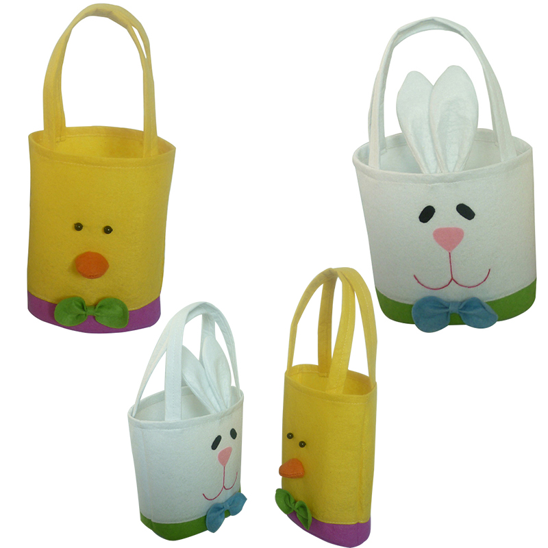 Functional Bags 100% Quality Easter Bunny Handbag Candy Decoration Storage Flower Home Decor Cute Kids Toy Rabbit Egg Basket Party Supplies Gift Vivid And Great In Style