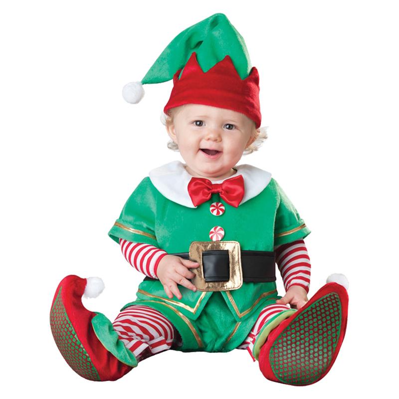 promocin de ventas pequeo duende de santa beb traje de navidad fiesta de navidad de vestir