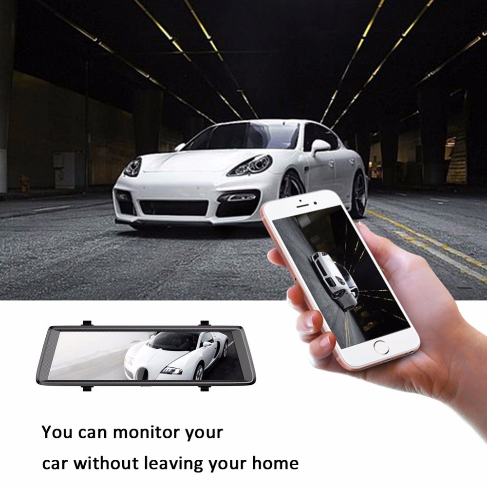V6 Android 5.0 Car dvr FHD 1080P 3G WiFi Mirror Dash Cam GPS Navigator 10-inch Rearview Mirror Driving Recorder Video Recorder