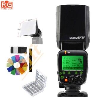SHANNY SN910EX-RF i-ttl transmisión de Radio inalámbrica Flash Speedlight para cámaras Nikon D7000 D7100 D5200 D5100 D5000 D3000 D3100