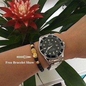 Image 2 - Tevise 럭셔리 방수 자동 남자 기계식 시계 자동 날짜 전체 철강 비즈니스 최고 브랜드 남자 시계 방수 T801