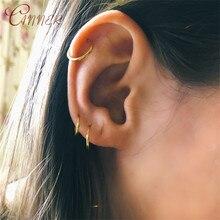 CANNER 925 Sterling Silver Earrings for Women Ear Bone Buckle Small Hoop Fashion Ring Clip Huggie Jewelry
