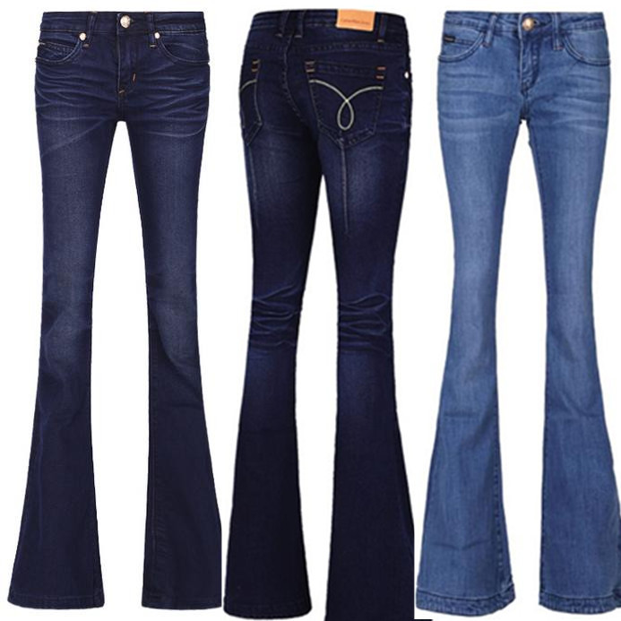 new Ladies OL Casual Trousers jeans Flare Pants Brand sexy denim women Plus size plus size pants the spring new jeans pants suspenders ladies denim trousers elastic braces bib overalls for women dungarees