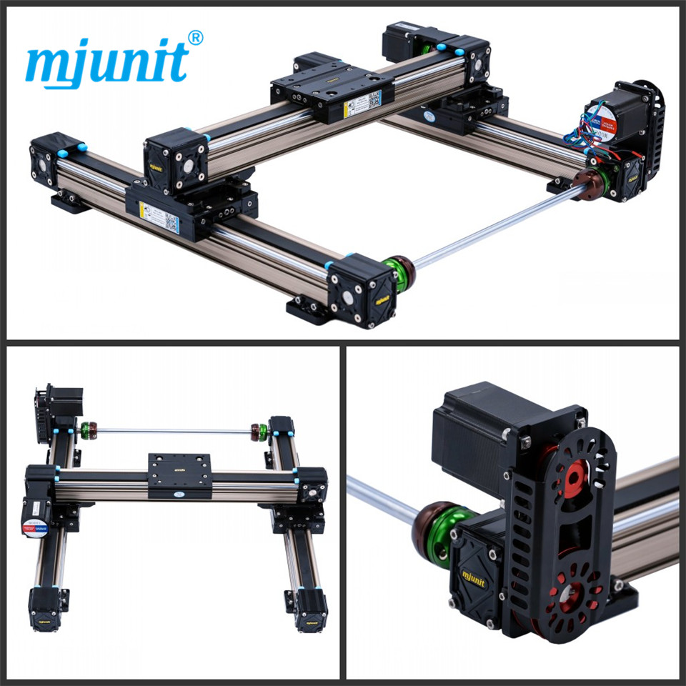 mjunit MJ50 xy axis with 1000x1000mm stroke length high quality Linear Shaft Support Rail Aluminum Alloy Motion flat mjunit xy postioning axis linear motion shaft support series slide cnc aluminum rail high quality