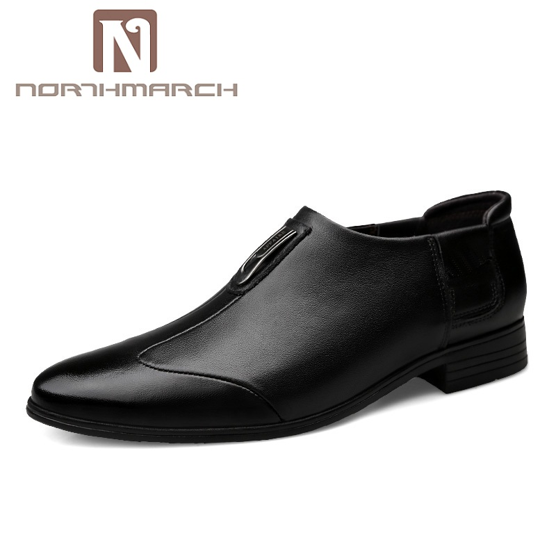 NORTHMARCH Spring/Autumn Genuine Leather Men Shoes Business Oxford Shoes Men Breathable Men Casual Shoes Chaussure Homme Cuir орлов а autocad 2011 самоучитель