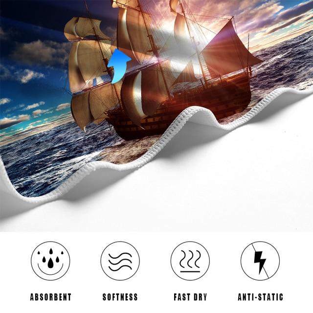 Sea Ship Microfiber Beach Towel 3