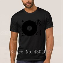 Headphones Record Disc Platter Disk Dj Play Vinyl Spin T-Shirt O Neck Letter Humorous Men's T Shirt Unisex Gents Slogan Hip Hop(China)