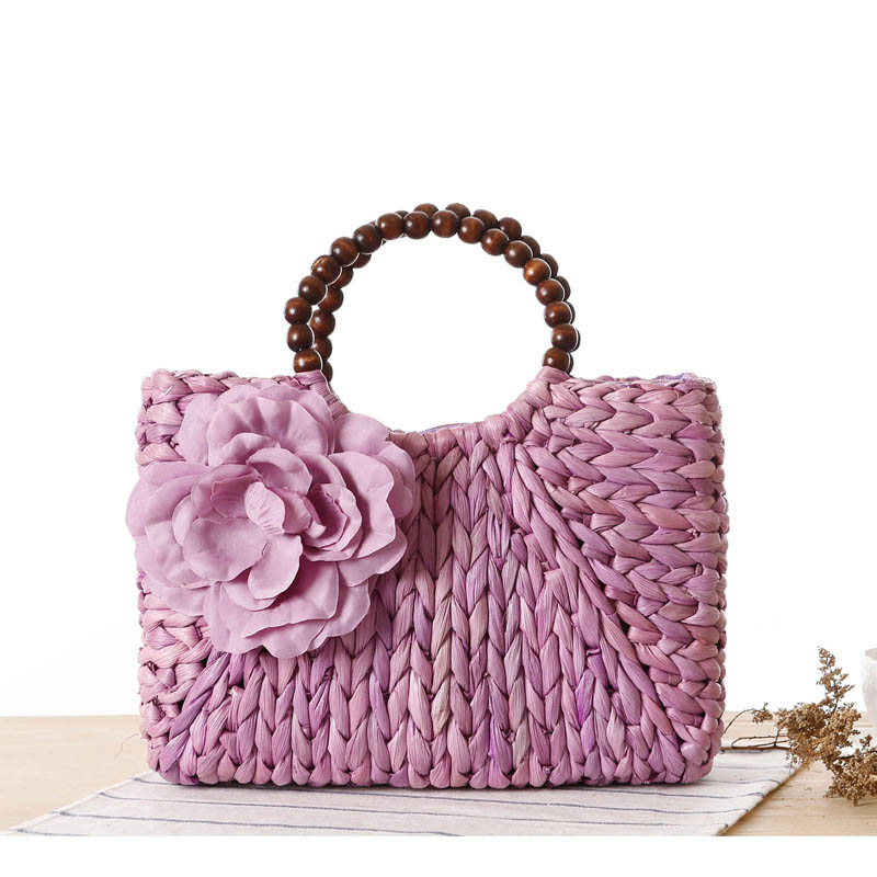Designer Handbags High Quality Straw Knitting Women Tote Bags Flower Summer Beach Handbag Fashion Lady Clutches T407 In Top Handle From