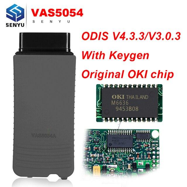 Outil de Diagnostic automatique de pleine puce d'oki de VAS5054A V4.4.1 Original vas 5054a ODIS V4.3.3 avec le Bluetooth de Keygen pour VW/Audi/Seat/Skoda