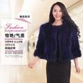 Autumn and winter new 2017 slim short women's natural raccoon dog fur coat outerwear women real fur jacket  plus size S-5XL