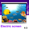 Home Cinema 84inch 4:3 Electric Synchronous Motorized Projection HD LCD LED DLP Projector Screen Free Shipping