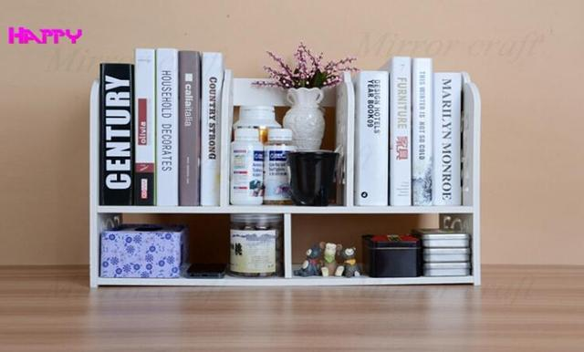 Eco Friendly simple office book shelves Desktop small book shelf     Eco Friendly simple office book shelves Desktop small book shelf Desktop  decoration ikea shelf receive