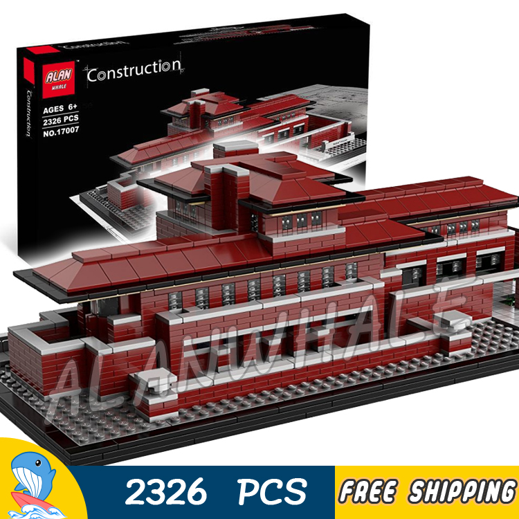 2326pcs Architecture Chicago Frederick C. Robie House 17007 Model Building Blocks Assemble Toys Bricks Compatible With Lego in stock lepin 17007 2326pcs genuine architecture series the robie house set children educational building blocks bricks model