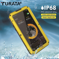 TURATA Shockproof Waterproof IP68 Heavy Duty Hybrid Tough Rugged Armor Metal Phone Case for iPhone X 8 7 6 6s Plus Cover Coque