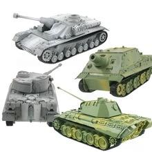 цена на 1pcs 4D Tank Model Building Kits Military Assembly Educational Toys Creative Home Decoration Crafts DIY Tank Miniatures