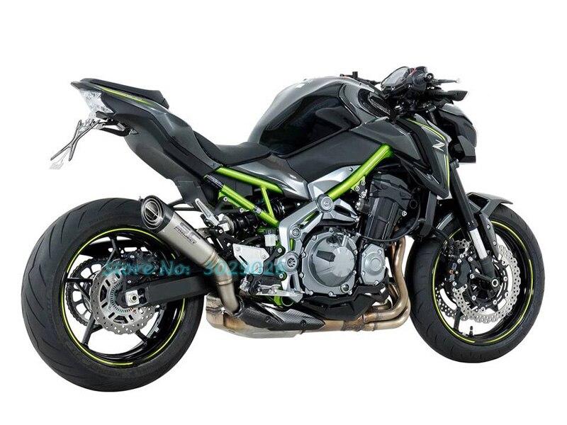 NEW Design Inlet 36- 51mm 60mm Universal Exhaust Muffler For Z900 ZX6R Z800 Ninja CBR Most Motorcycle Laser Marking Escape