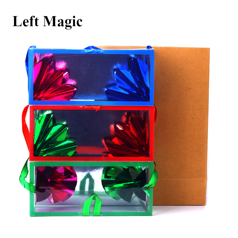 Mini Dream Bag / Appearing Flower Box (13*6.2*6.2cm)  Magic Tricks Super Delux Bag Appearing Flower Empty From Box Magic Props