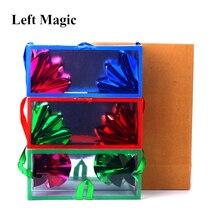 Mini saco de sonho/aparecendo caixa de flor (13*6.2*6.2cm) truques mágicos saco delux super aparecendo flor vazia da caixa adereços mágicos