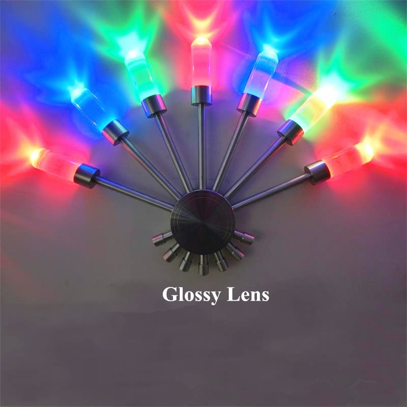 Creative Led Wall Lamp RGB Modern Colorful Fan Light Fixture Luminous Lighting Sconce 7W AC85-265V Indoor Wall Decoration Light led recessed wall light outdoor waterproof ip54 modern wall lamp for stairs art home decoration sconce lighting fixture 1097
