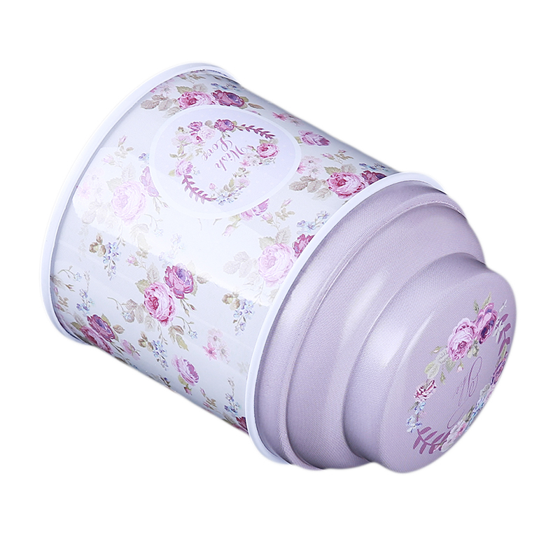 Floral Coffee Tea Candy Sealed Can Container Jar Tin Box Tinplate Home