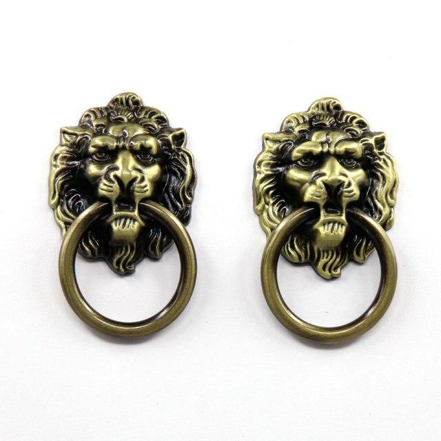 Cabeza de león puerta del armario perillas cocina gabinete tiradores ...