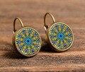 free shipping yoga earrings a pair henna mandala earring on symbol zen dazzling original art earrings jewelry for women c-e 201