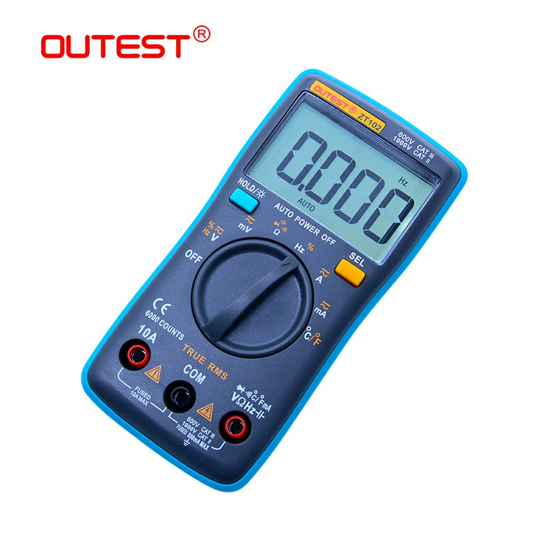 Portable Digital Multimeter Mini Pocket Ammeter Voltmeter Volt Ohm Meter Te UK