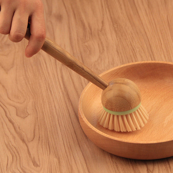 New Bamboo Dish Brush Multifunction Kitchen Cleaning Tools Dish Brush with Bamboo Handle All-Purpose Scrub Dishwasher 4