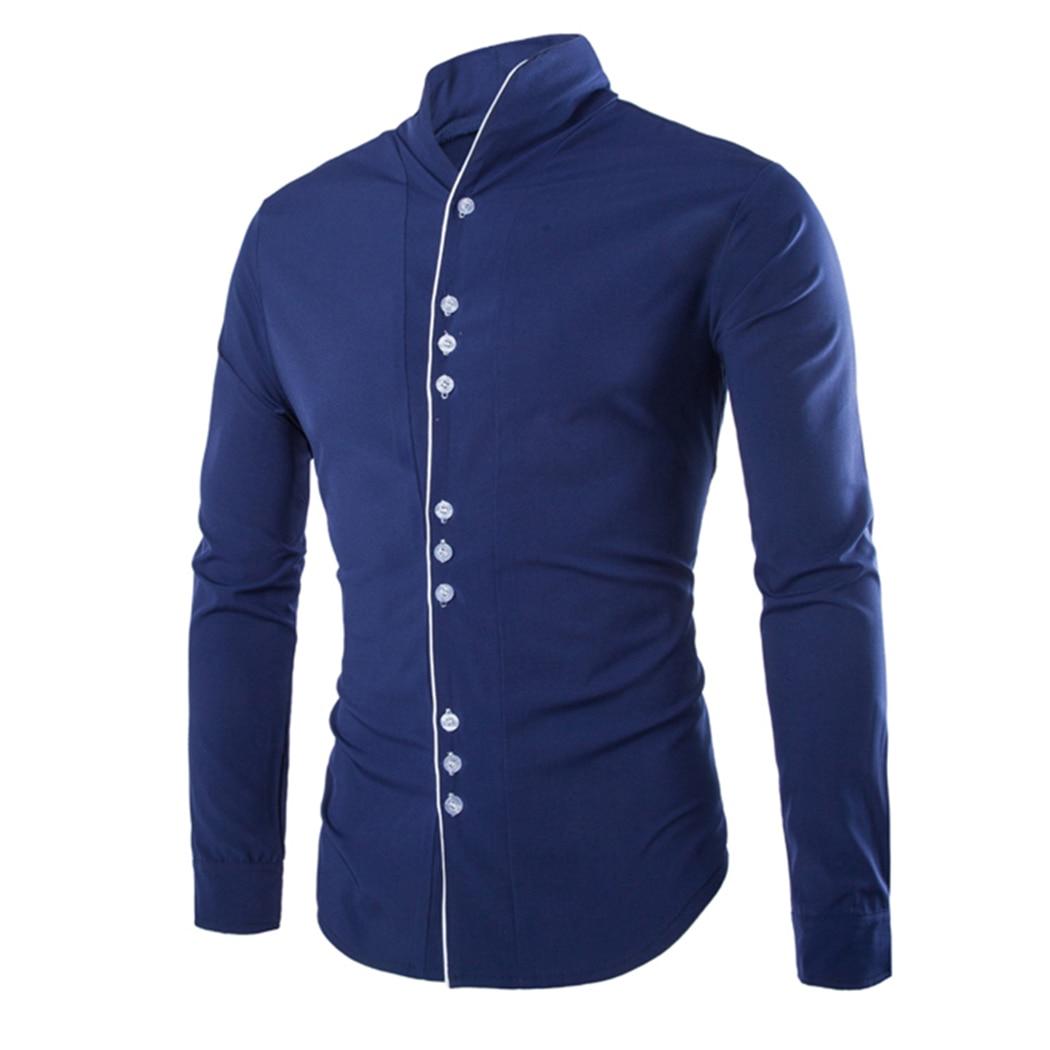 Shirt design for man 2016 - 2017 Hot Sale Men S Casual Shirts Long Sleeve Cool Soild Buttons Collar Tops 3 Colors 725