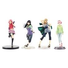 Naruto Gals PVC Action Figure Tsunade Hinata Hyuga Haruno Sakura Uchiha Anime Beauty